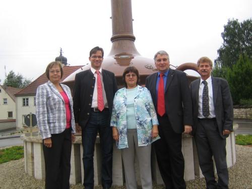 v.l.n.r.: Gabi Fograscher, Florian Pronold, Ursula Straka, Harald Güller, Gerhard Martin